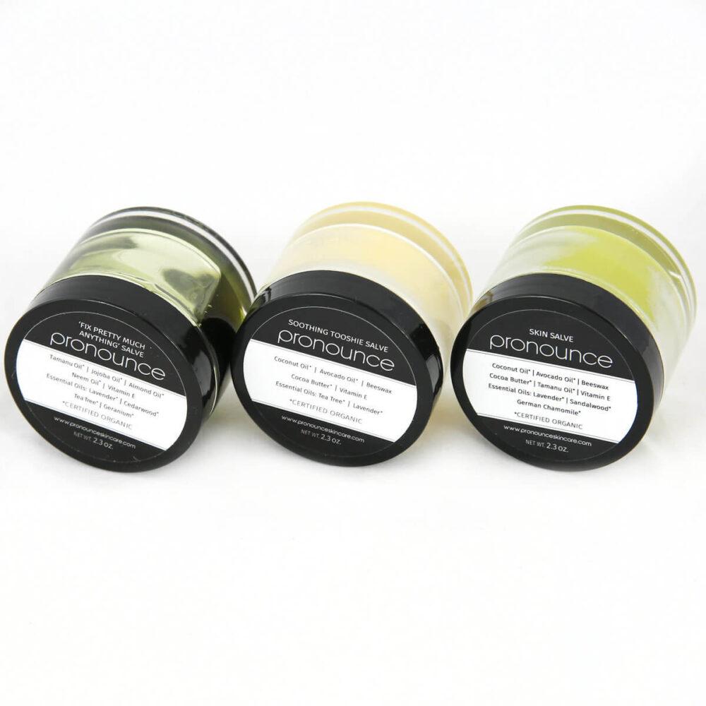 3 Salve 2.3oz Size On Sides Pronounce Skincare & Herbal Boutique