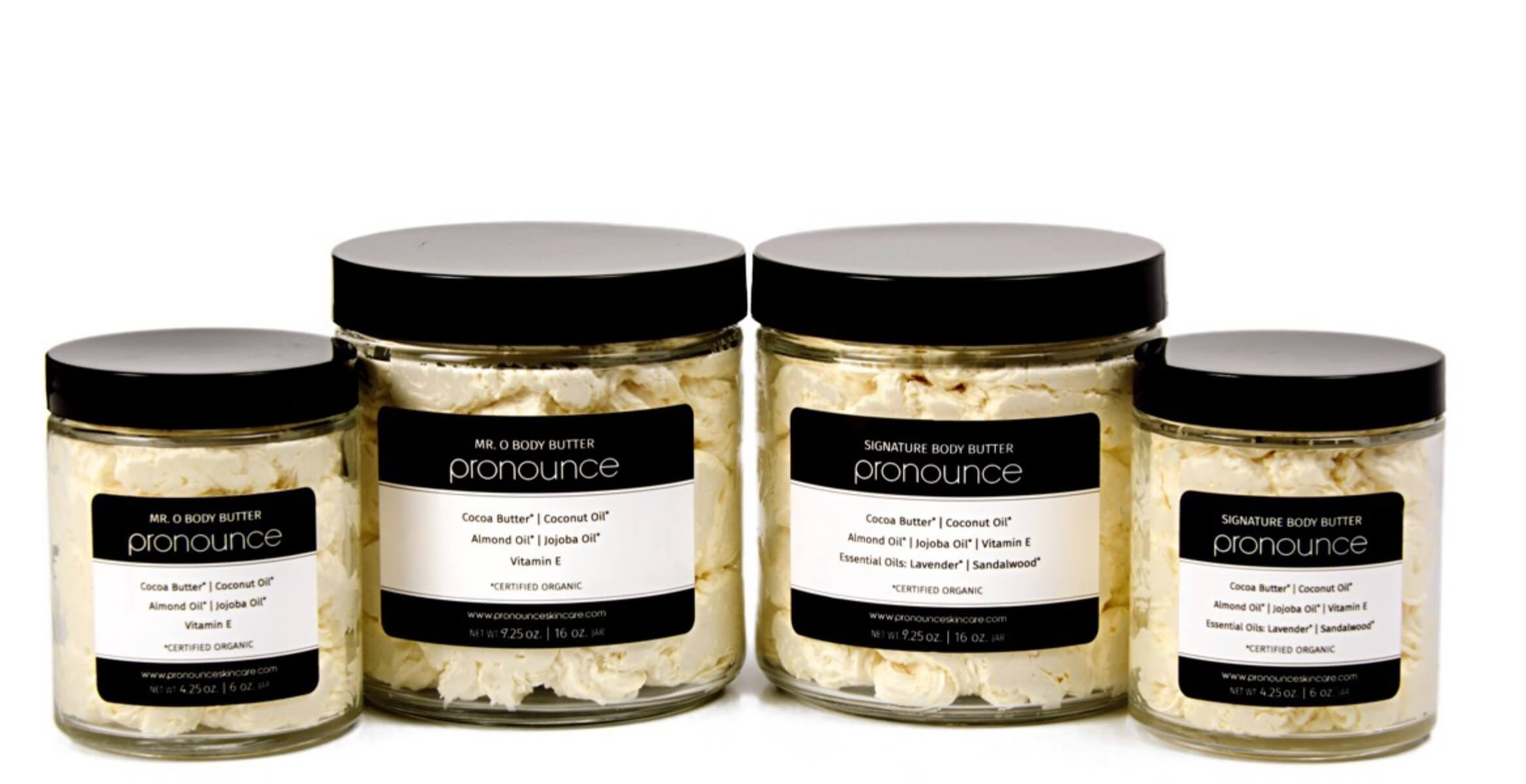 Body Butters Full Line Lids On | Pronounce Skincare & Herbal Boutique