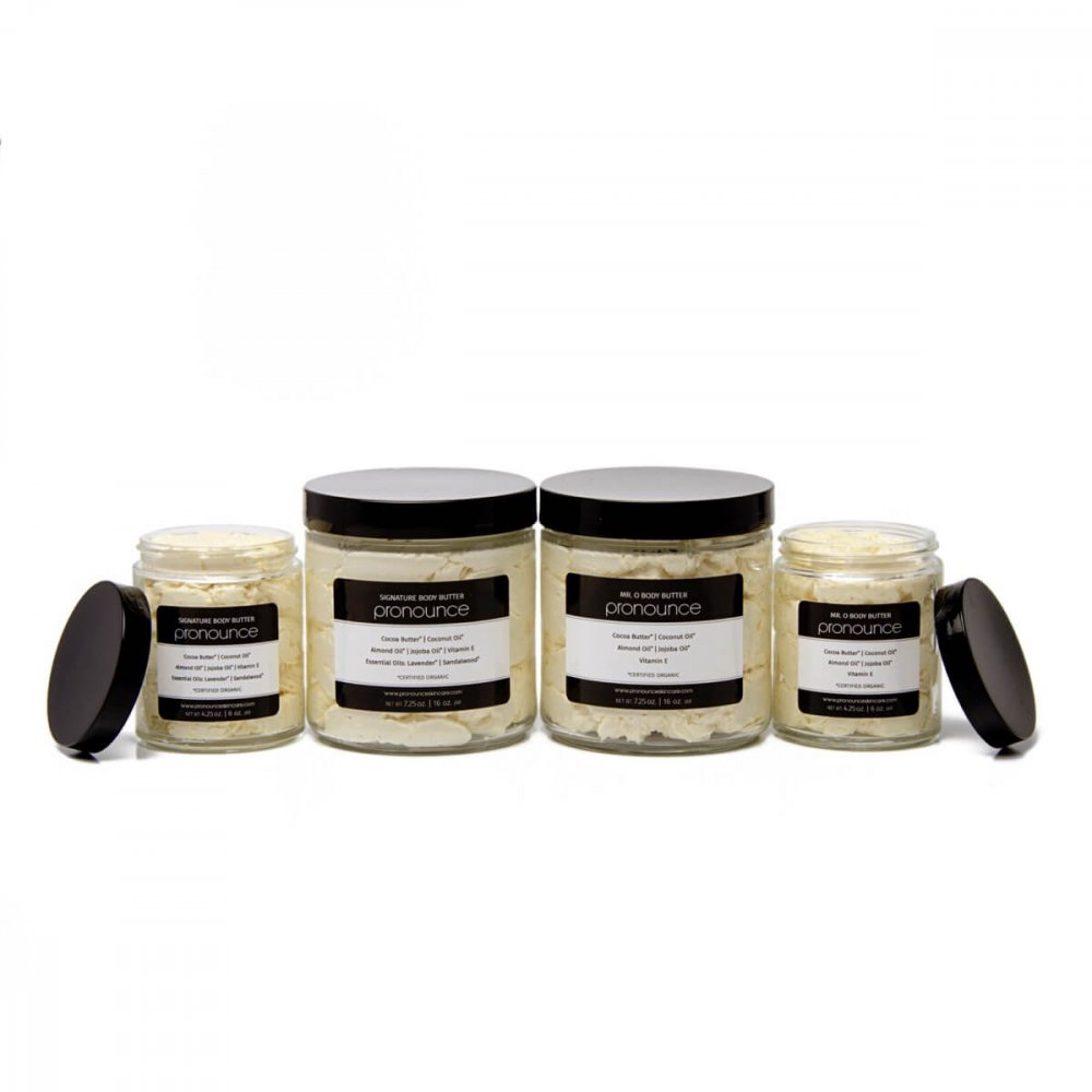 Body Butters (full line, lids off 6oz) - Pronounce Skincare 1200 x 1200