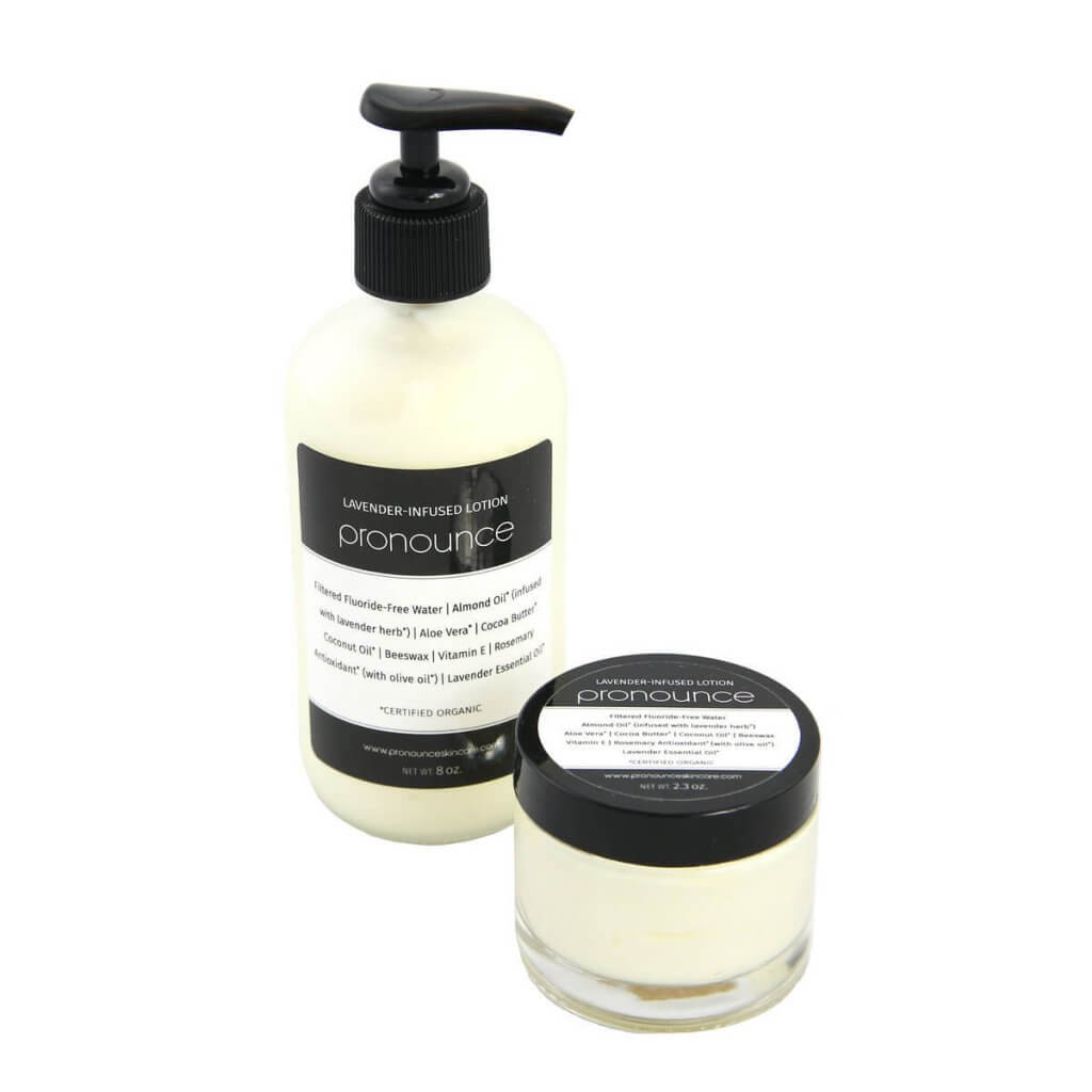 Lavender-Infused Lotion 2 Sizes Pronounce Skincare & Herbal Boutique