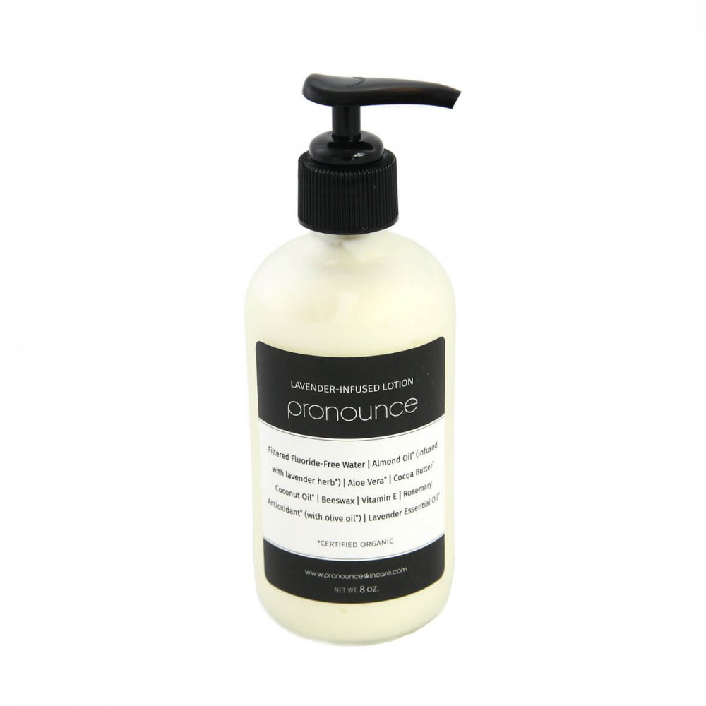 Lavender-Infused Lotion 8oz Pronounce Skincare & Herbal Boutique