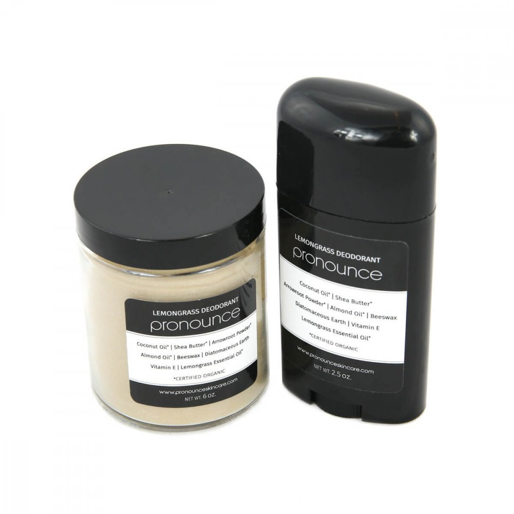 Lemongrass Deodorant 2 Sizes Pronounce Skincare & Herbal Boutique