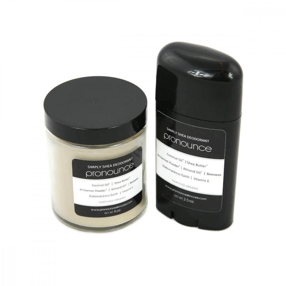 Simply Shea Deodorant 2 Sizes Pronounce Skincare & Herbal Boutique