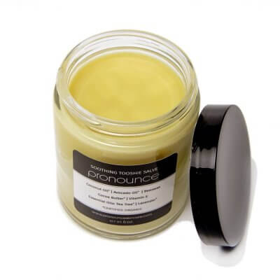 Soothing Tooshie Salve (top view) - Pronounce Skincare 1200 x 1200