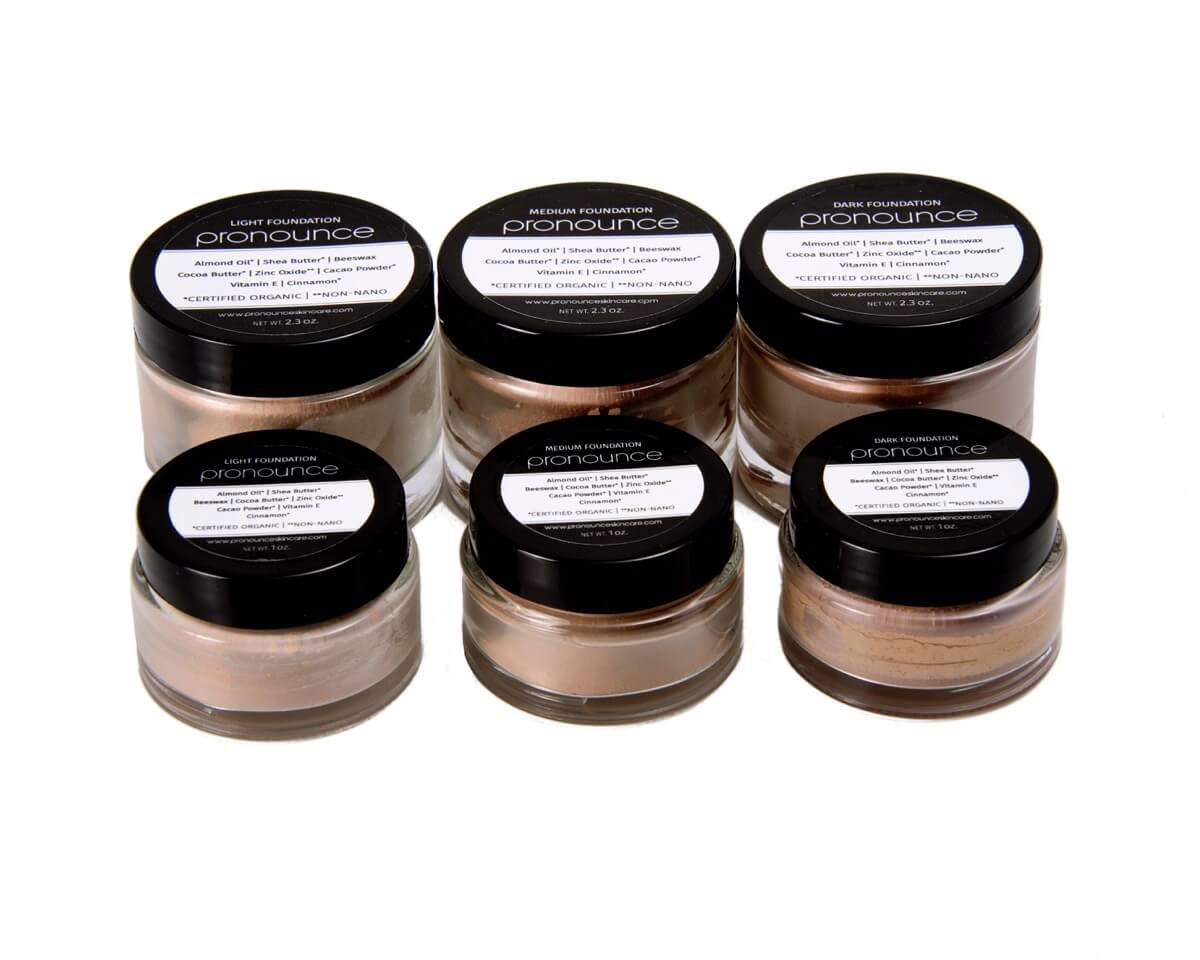 Facial Foundation (3 shades lids on top view) - Pronounce Skincare
