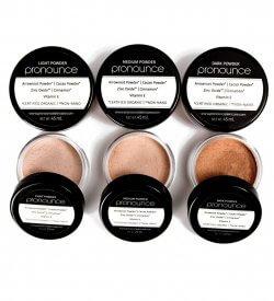 Facial Powder - Pronounce Skincare (lids off)