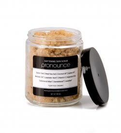 Softening Skin Scrub - Pronounce Skincare (lid off)