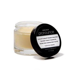 Beard Balm (lid off) - Pronounce Skincare