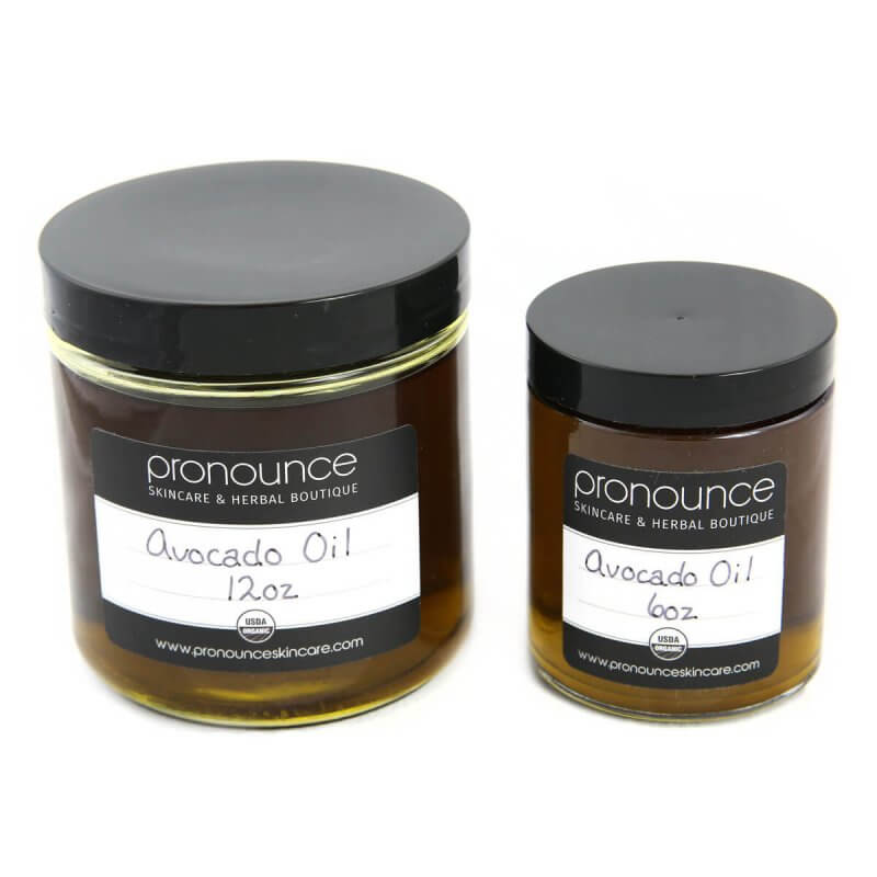 Certified Organic Avocado Oil 2 Sizes Pronounce Skincare & Herbal Boutique