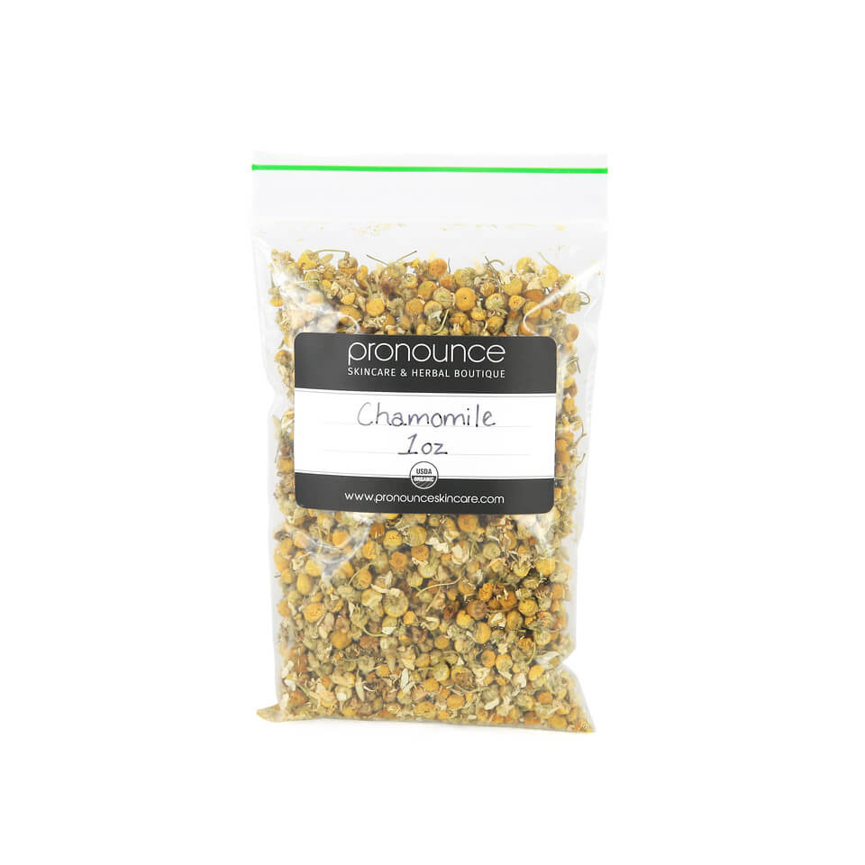 Certified Organic Chamomile Flowers 1oz Pronounce Skincare & Herbal Boutique