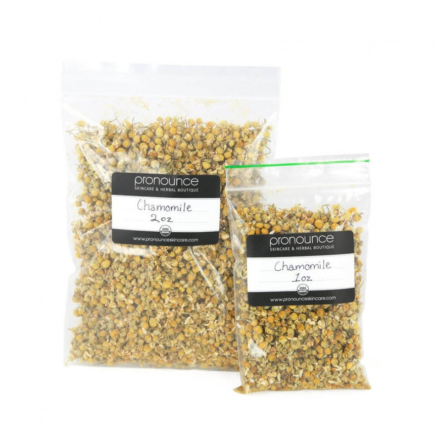 Certified Organic Chamomile Flowers 2 Sizes Pronounce Skincare & Herbal Boutique