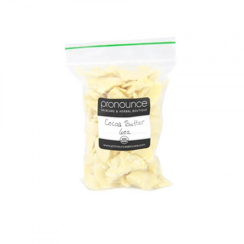 Certified Organic Cocoa Butter 6oz Certified Organic Shea Butter 8oz Pronounce Skincare & Herbal Boutique