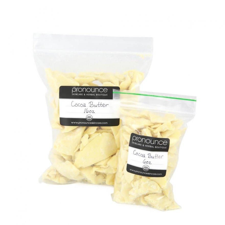 Certified Organic Cocoa Butter Certified Organic Shea Butter 8oz Pronounce Skincare & Herbal Boutique