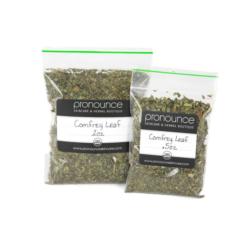 Certified Organic Comfrey Leaf 2 Sizes Pronounce Skincare & Herbal Boutique