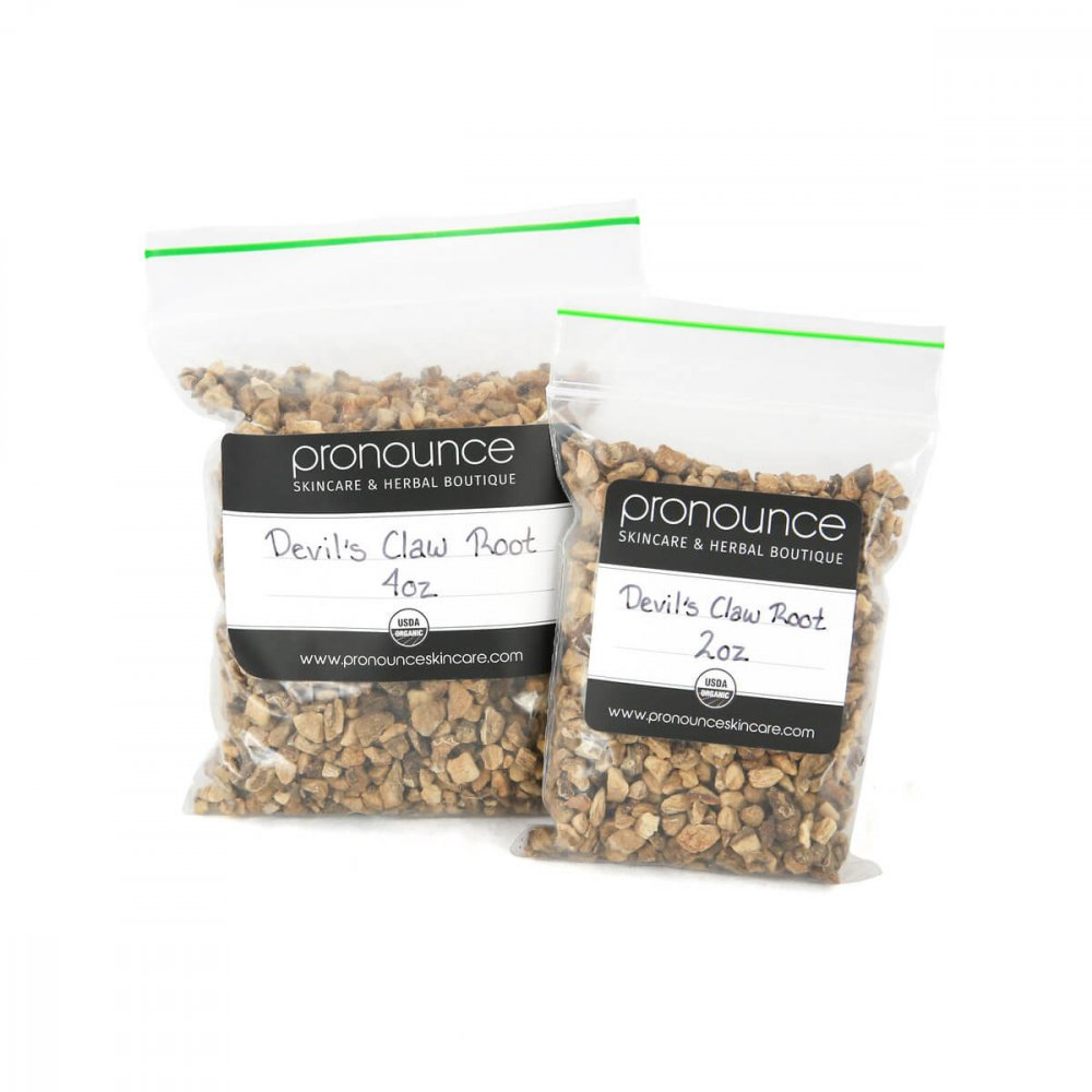 Certified Organic Devil's Claw Root 2 Sizes Pronounce Skincare & Herbal Boutique