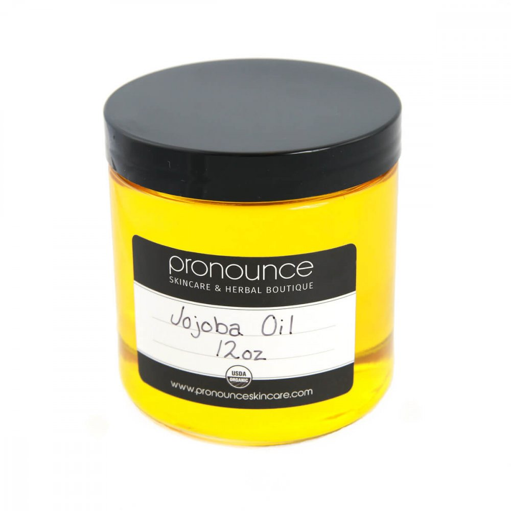 Certified Organic Jojoba Oil 12oz Pronounce Skincare & Herbal Boutique