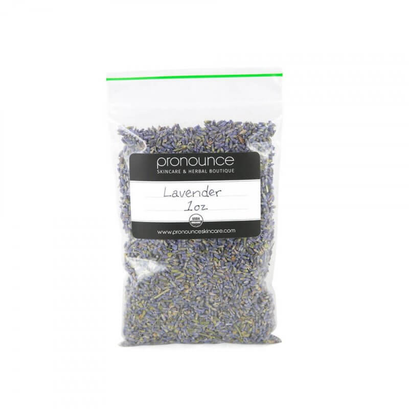 Certified Organic Lavender Flowers 1oz Pronounce Skincare & Herbal Boutique