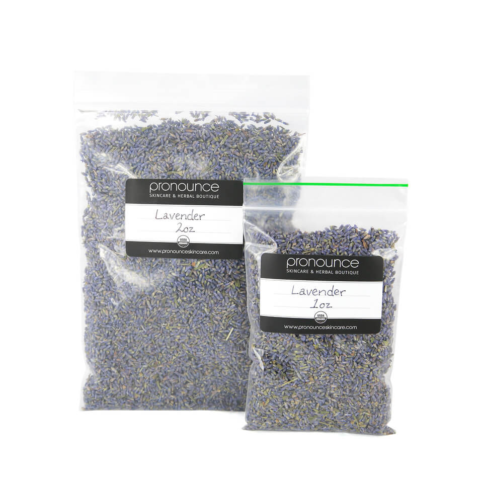 Certified Organic Lavender Flowers 2 Sizes Pronounce Skincare & Herbal Boutique