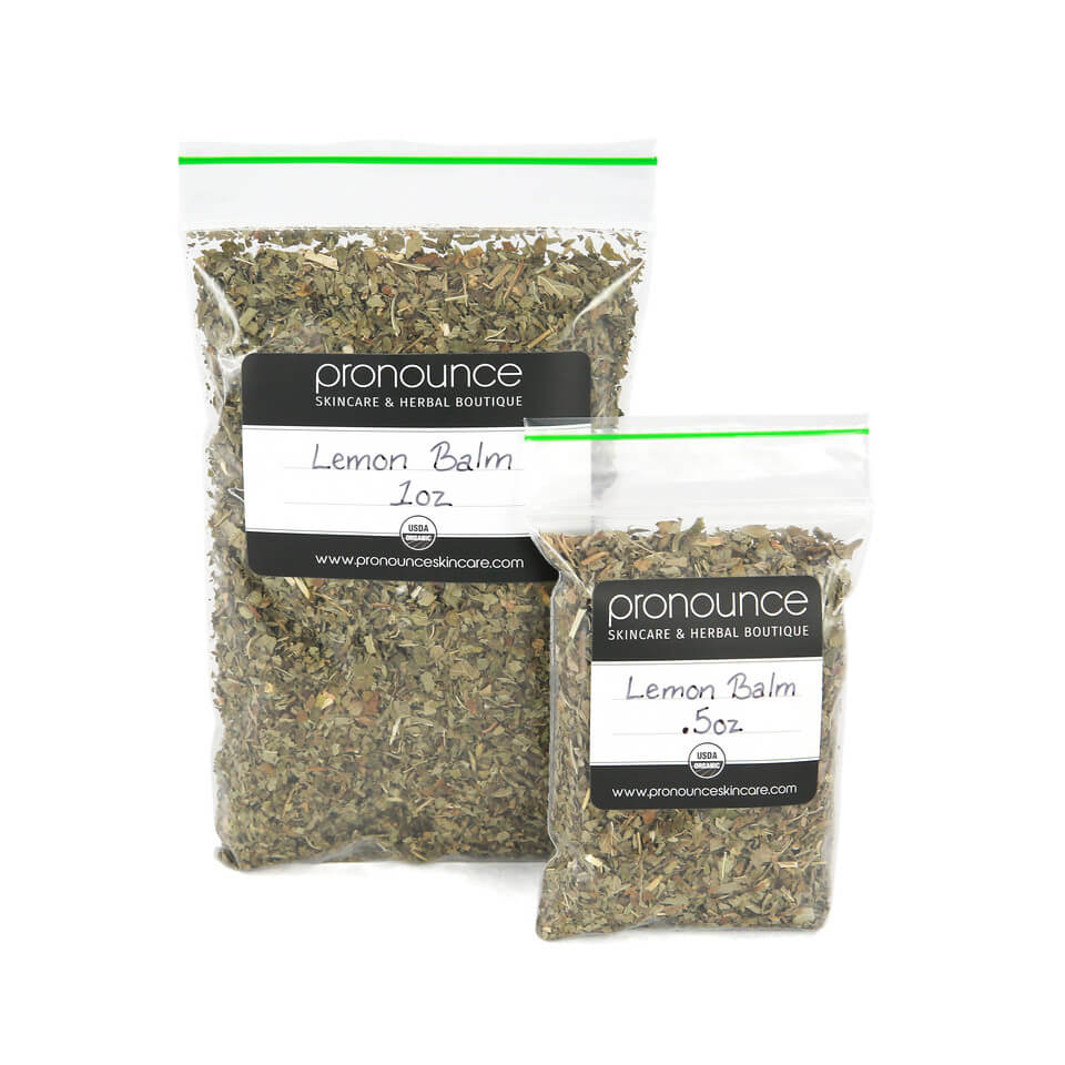 Certified Organic Lemon Balm 2 Sizes Pronounce Skincare & Herbal Boutique