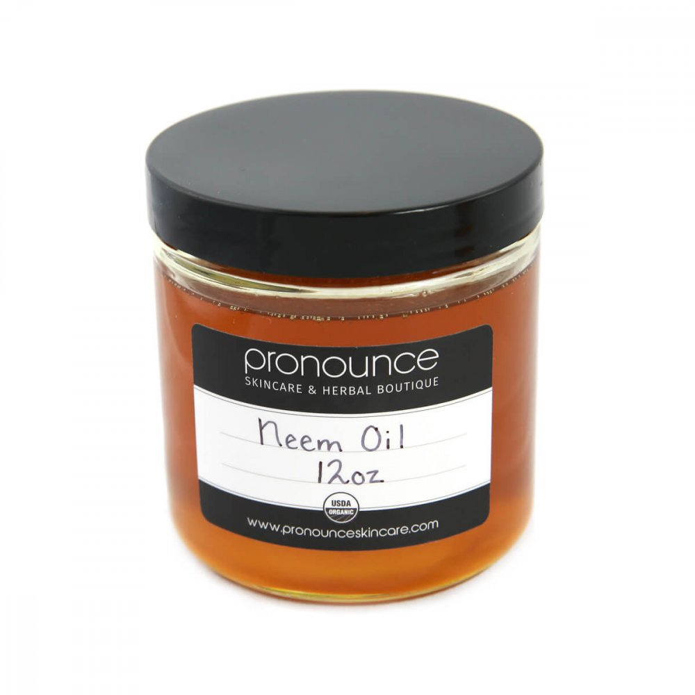 Certified Organic Neem Oil 12oz Pronounce Skincare & Herbal Boutique