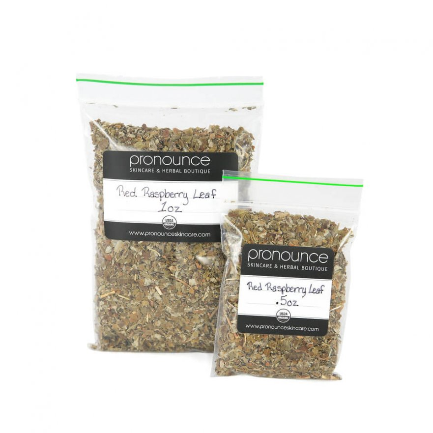 Certified Organic Red Raspberry Leaf 2 Sizes Pronounce Skincare & Herbal Boutique