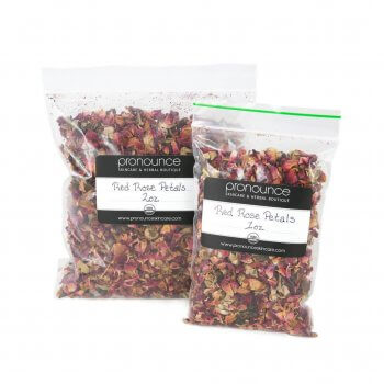 Certified Organic Red Rose Petals 2 Sizes Pronounce Skincare & Herbal Boutique