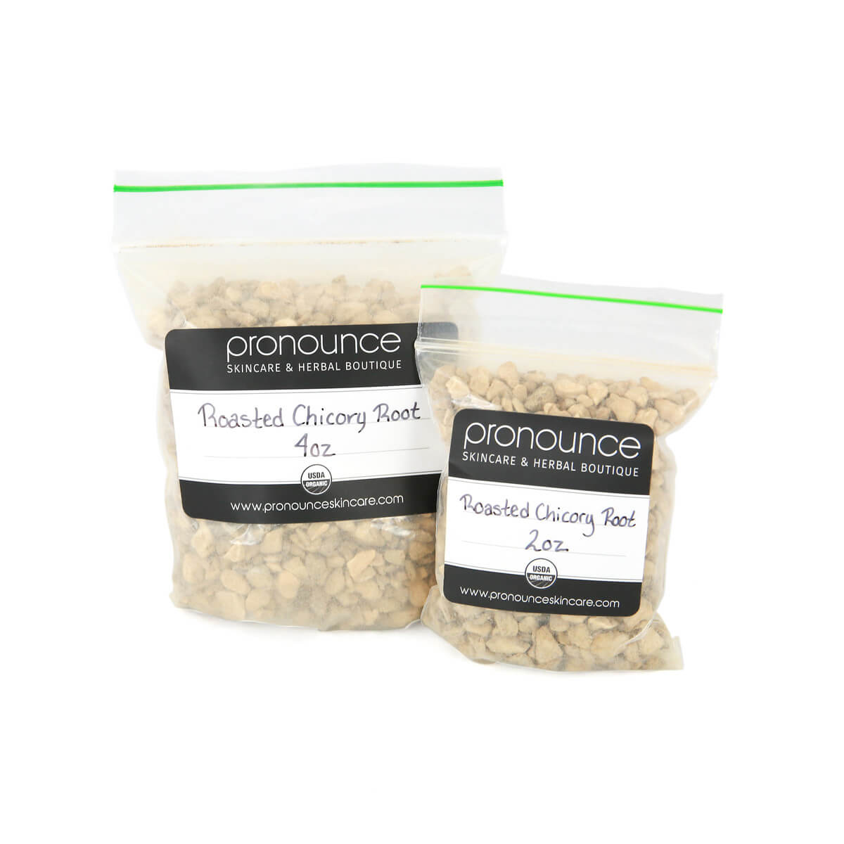 Certified Organic Roasted Chicory Root 2 Sizes Pronounce Skincare & Herbal Boutique