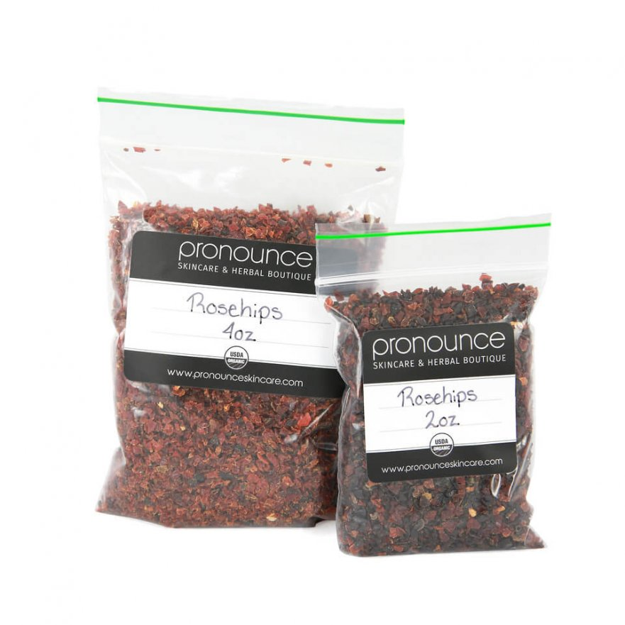 Certified Organic Rosehips 2 Sizes Pronounce Skincare & Herbal Boutique