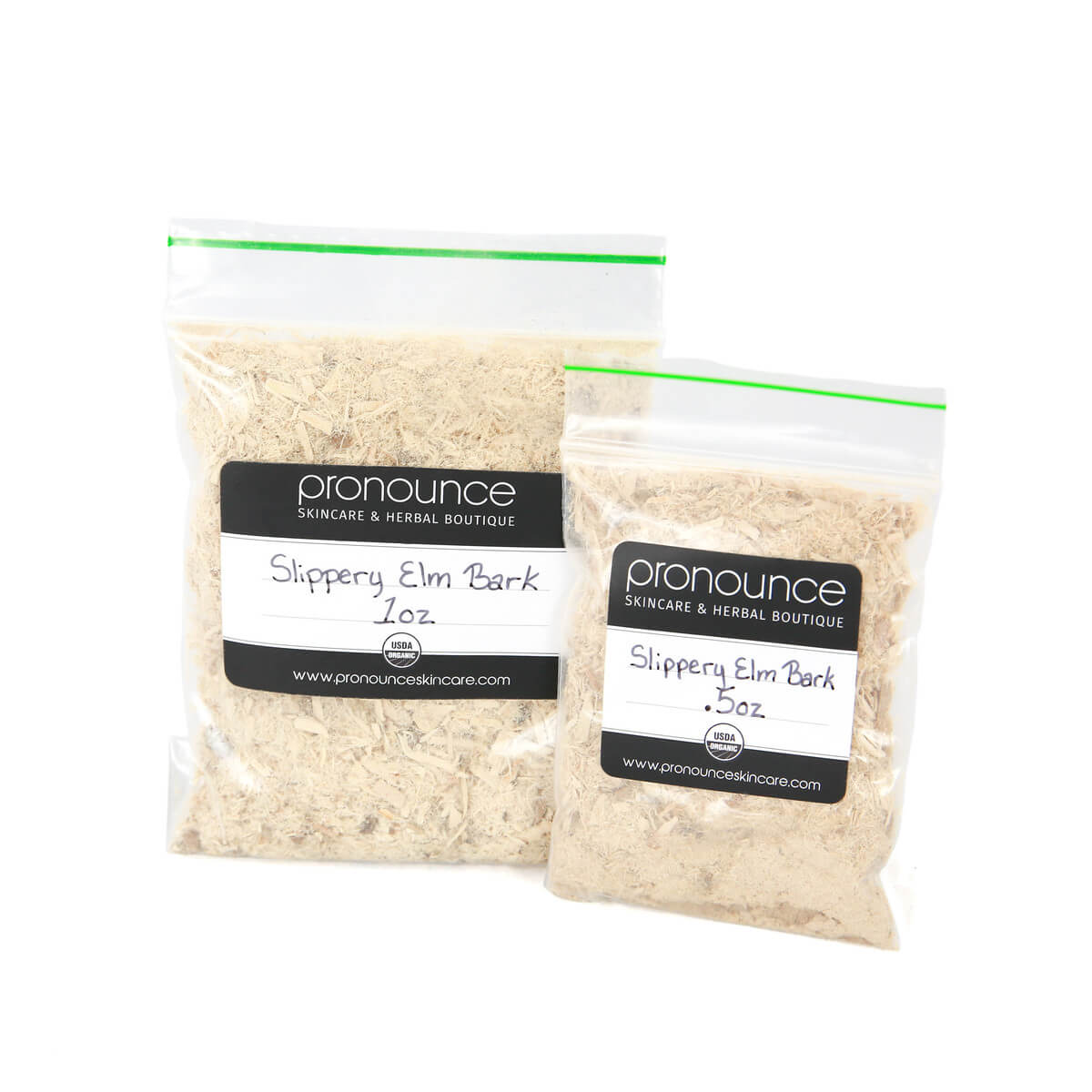 Certified Organic Slippery Elm Bark 2 Sizes Pronounce Skincare & Herbal Boutique