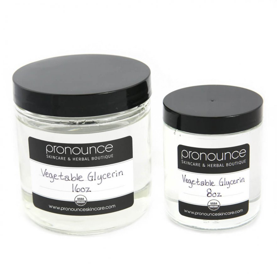 Certified Organic Vegetable Glycerin 2 Sizes Pronounce Skincare & Herbal Boutique