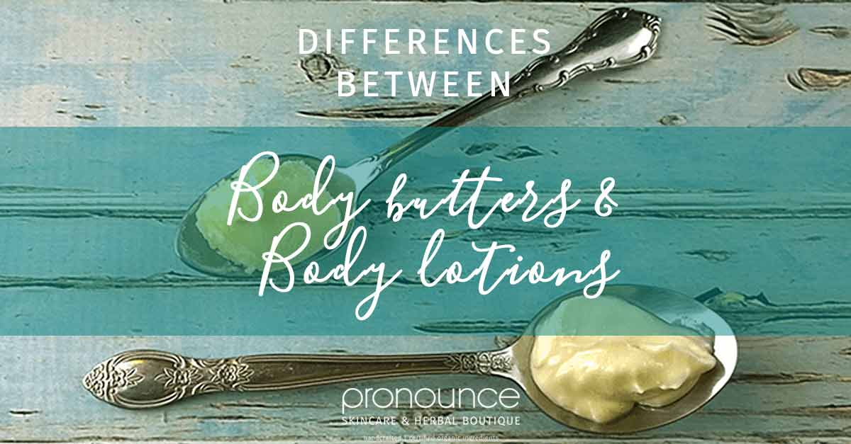 Differences between body butters and body lotions (and which you should choose) • pronounceskincare.com