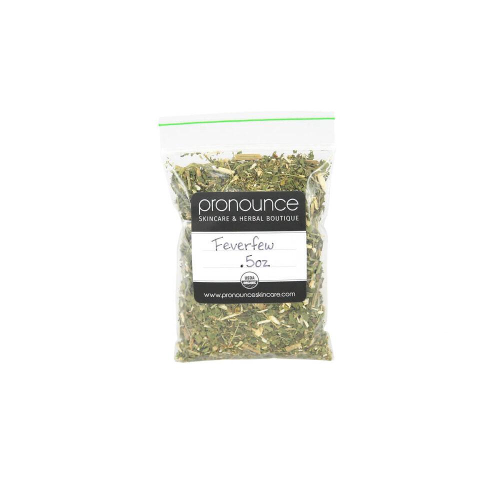 Certified Organic Feverfew .5oz Pronounce Skincare & Herbal Boutique