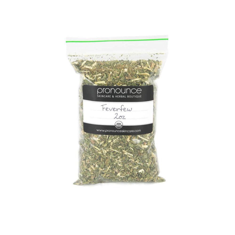 Certified Organic Feverfew 2oz Pronounce Skincare & Herbal Boutique