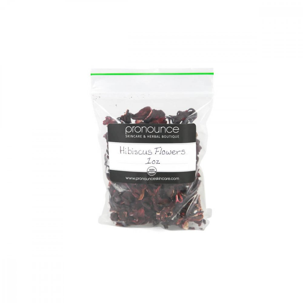 Certified Organic Hibiscus Flower Petals 2oz Pronounce Skincare & Herbal Boutique