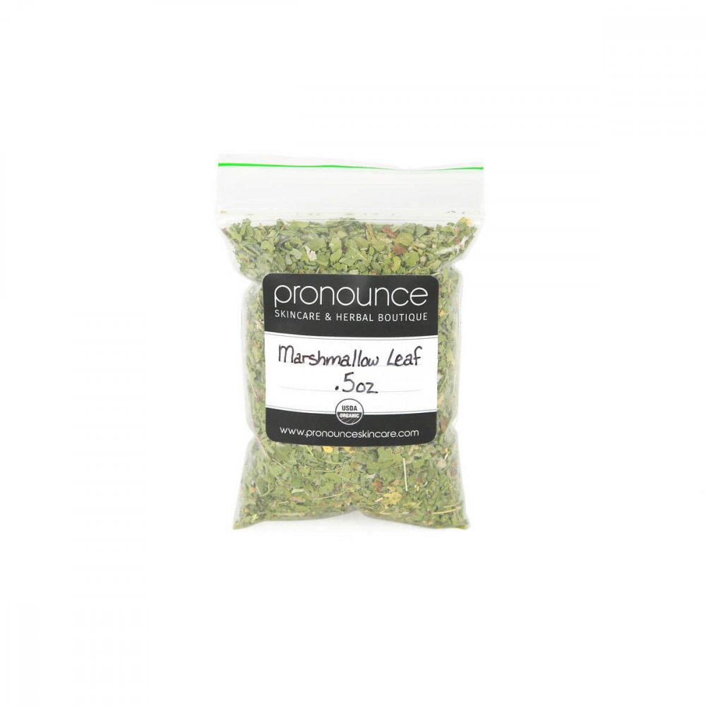 Certified Organic Marshmallow Leaf 0.5oz Pronounce Skincare & Herbal Boutique