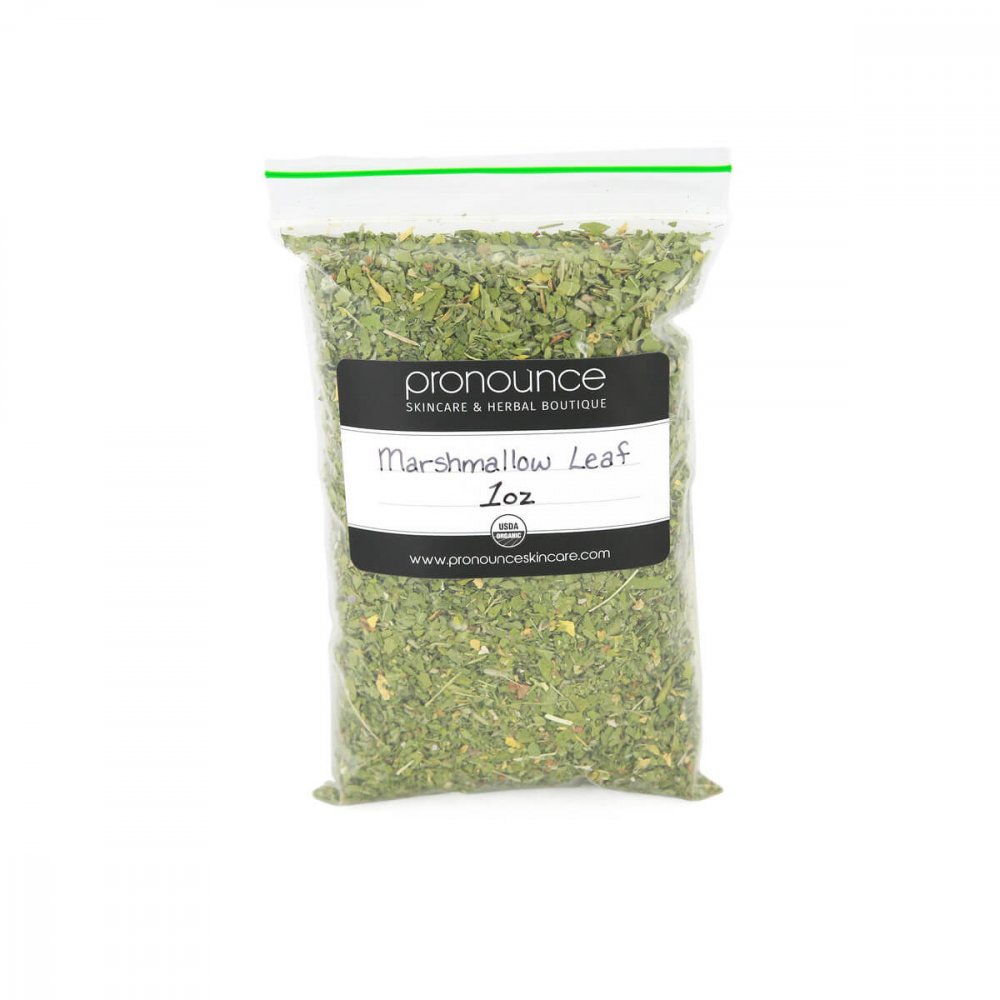 Certified Organic Marshmallow Leaf 1oz Pronounce Skincare & Herbal Boutique
