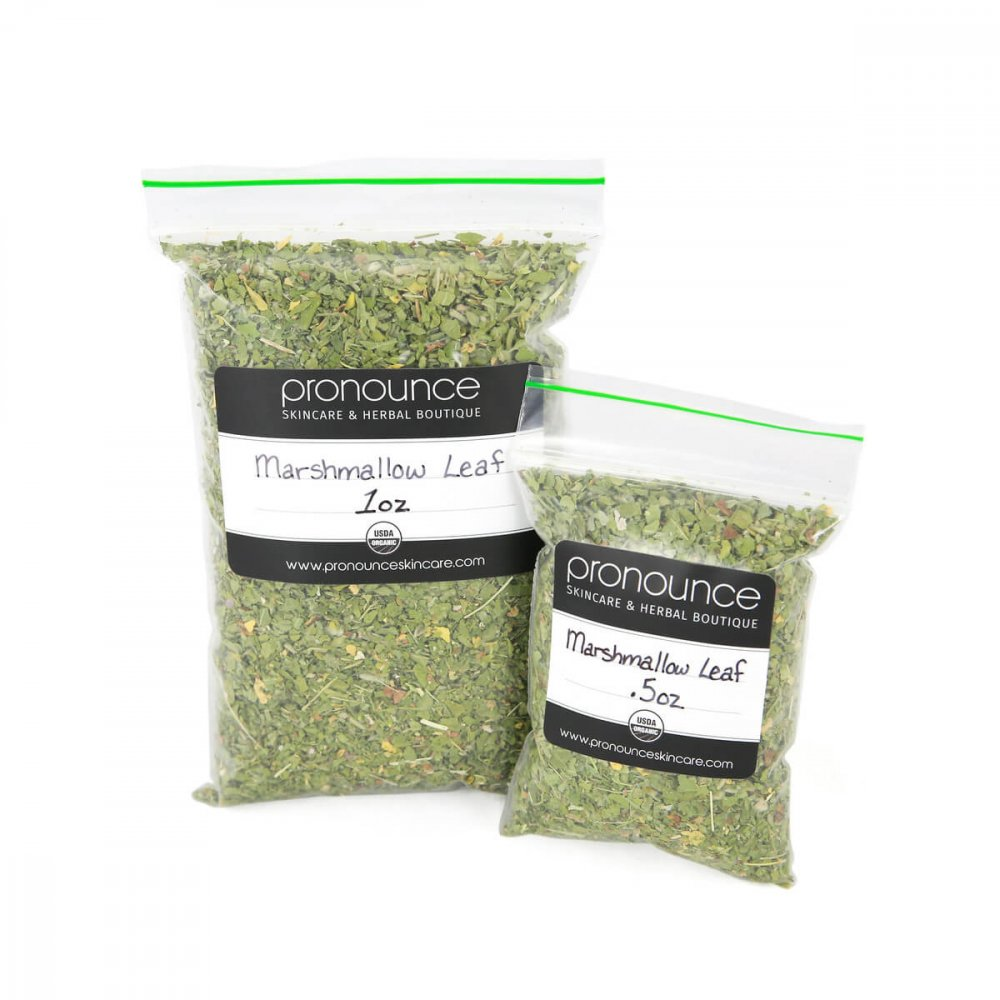 Certified Organic Marshmallow Leaf 2 sizes Pronounce Skincare & Herbal Boutique