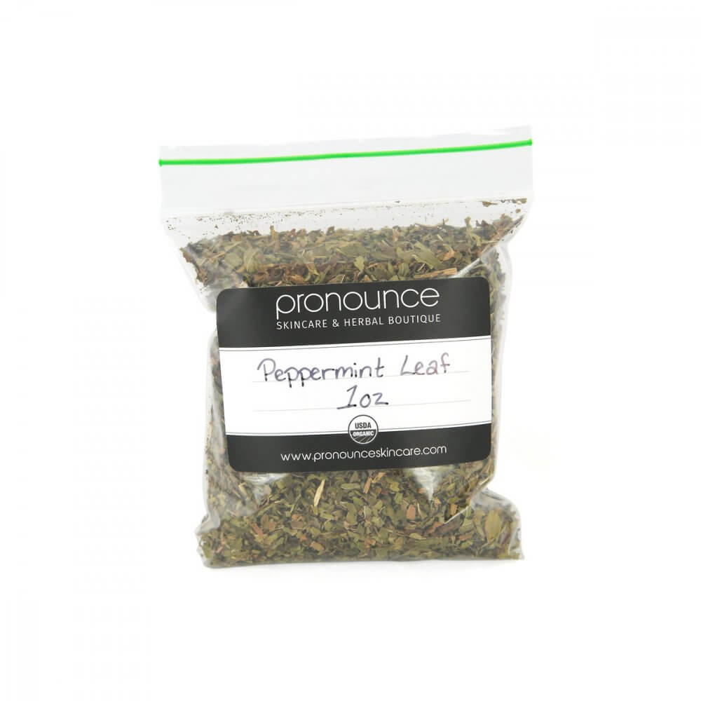 Certified Organic Peppermint Leaf 1oz Pronounce Skincare & Herbal Boutique