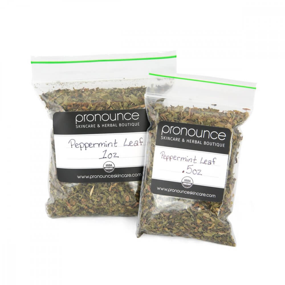 Certified Organic Peppermint Leaf 2 sizes Pronounce Skincare & Herbal Boutique