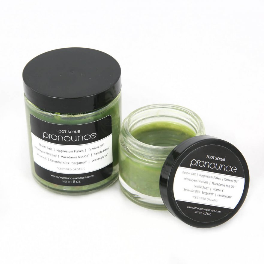 Foot Scrub 2 sizes Pronounce Skincare & Herbal Boutique