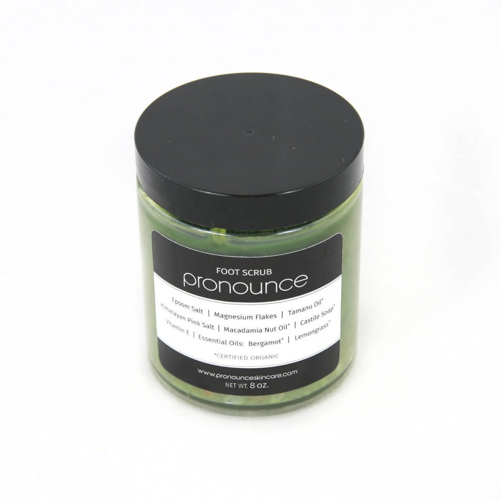Foot Scrub 8oz Pronounce Skincare & Herbal Boutique