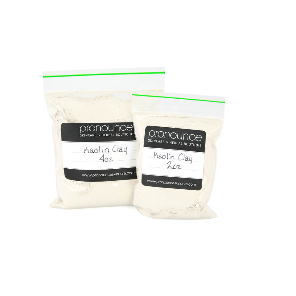 Kaolin Clay (white cosmetic clay) 2 sizes Pronounce Skincare & Herbal Boutique