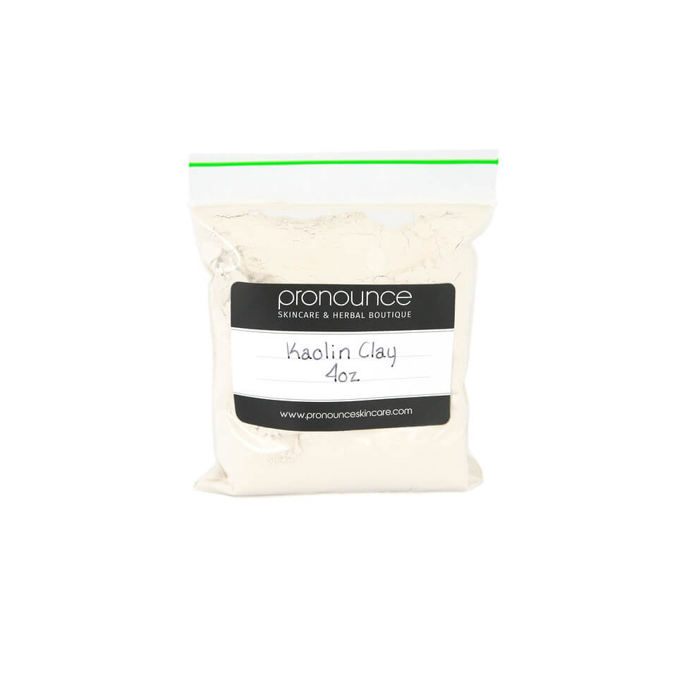 Kaolin Clay (white cosmetic clay) 4oz Pronounce Skincare & Herbal Boutique
