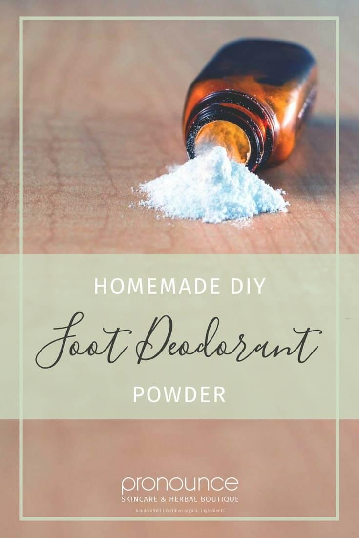 Stinky Feet…Be Gone! (DIY Foot Deodorant Powder Recipe