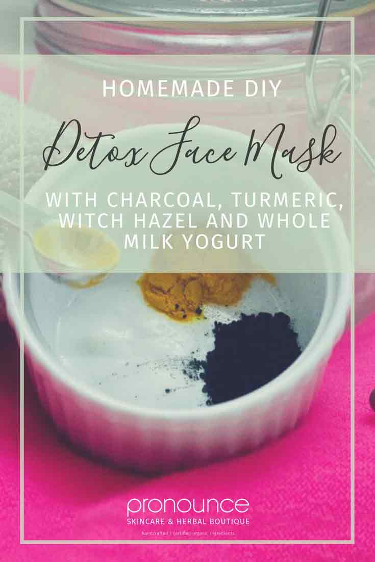 DIY Detox Face Mask Made With Charcoal, Turmeric, Witch