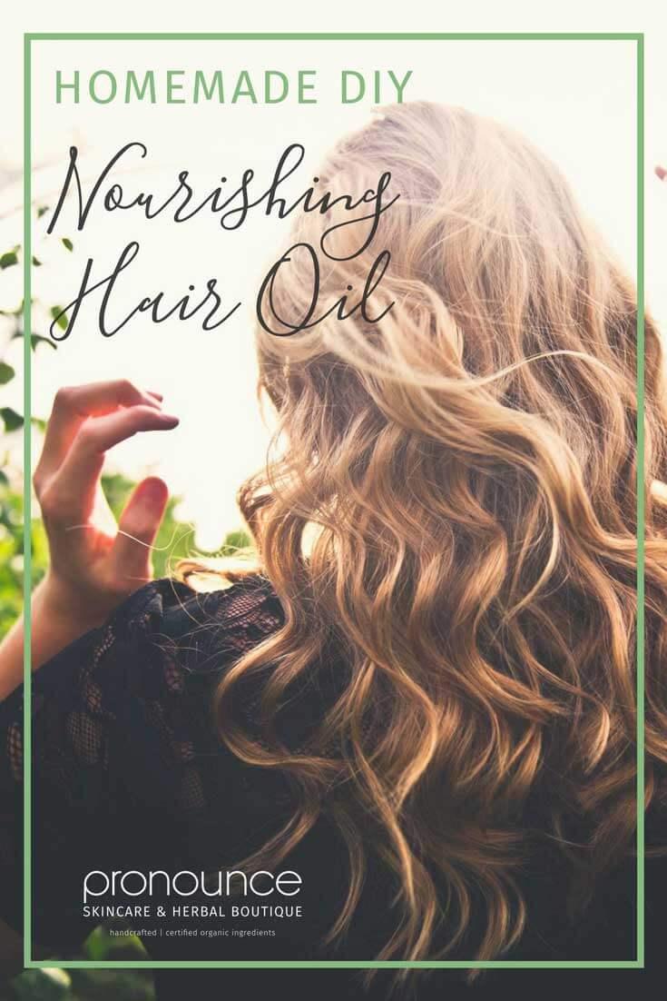 Nourishing DIY Hair Oil...no more dry, brittle hair ...