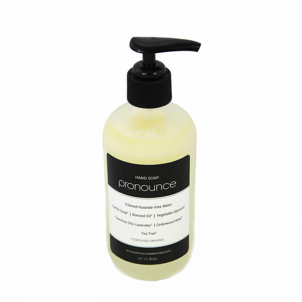 Hand Soap 8oz Glass Bottle With Pump - Pronounce Skincare & Herbal Boutique