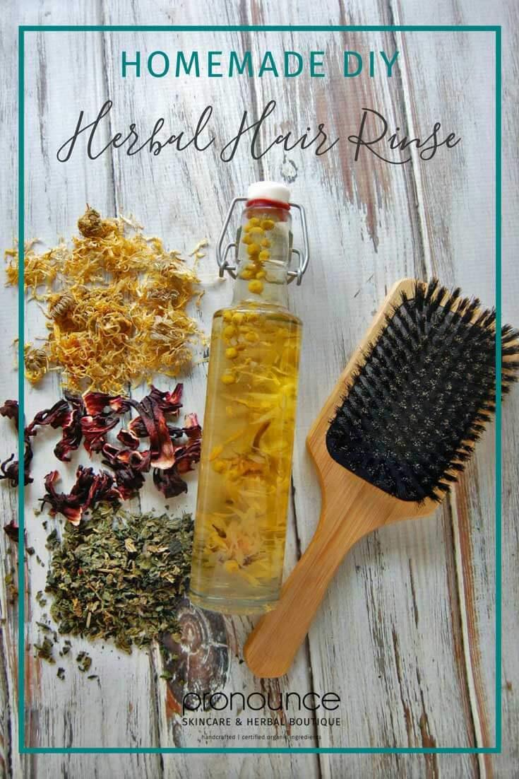 Diy Herbal Hair Rinses Pronounce Skincare Herbal Boutique