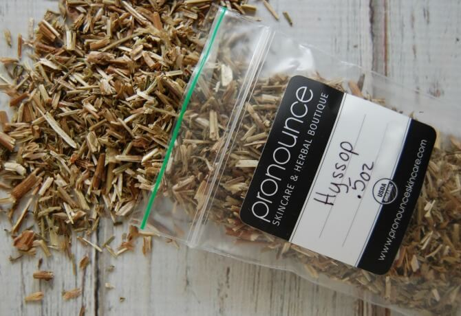 Hyssop Herb for DIY Hyssop Cough Drops - Pronounce Skincare & Herbal Boutique