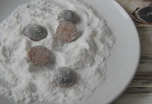 Powdering Hyssop Cough Drops for DIY Hyssop Cough Drops - Pronounce Skincare & Herbal Boutique